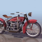 Vintage 1923 Ace Motorcycle