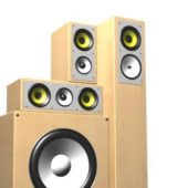 Electronic 3.1 Surround Sound Speakers