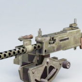 30mm Caliber Machine Gun Weapon