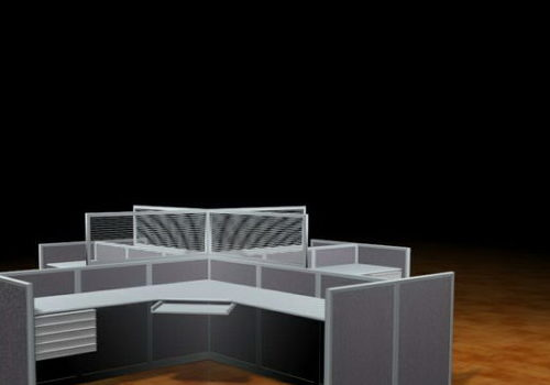 Furniture 4 Person Workstation Partition
