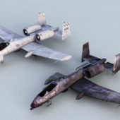Wreck A-10 Thunderbolt Airplane
