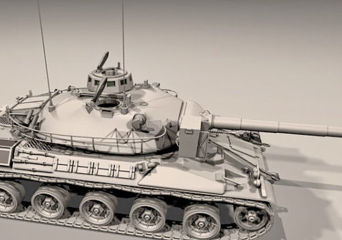 French Amx-30 Battle Tank