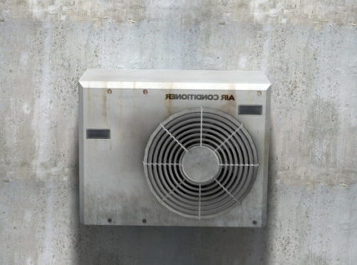Air Conditioner Hot Unit Outside