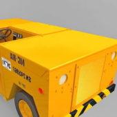 Yellow Aircraft Carrier Deck Vehicle