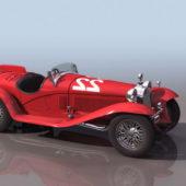 Red Alfa Romeo 8c 2300 Racing Car