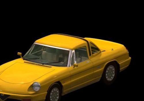 Classic Alfa Romeo Spider Roadster Car
