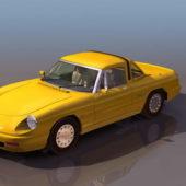 Yellow Alfa Romeo Spider Roadster