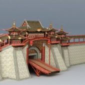 Ancient Chinese City Wall Building