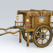 Ancient Wooden Chinese Carriage