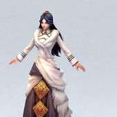 Ancient Character Chinese Clothing Woman