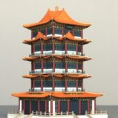 Ancient Vintage Chinese Pagoda