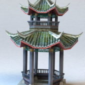 Ancient Chinese Pavilion Building V1