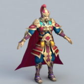 Chinese Soldier Captain Character