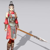 Ancient Character Chinese Soldier Woman