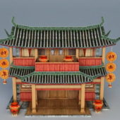 Ancient Vintage Chinese Tavern