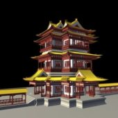 Ancient Vintage Chinese Temple