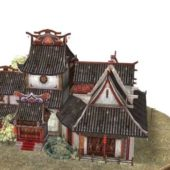 Ancient Chinese Pagoda Buildings