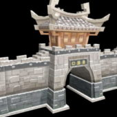 Ancient Asian City Gate