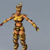 Egypt Queen Character Rigged