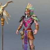 Game Character Ancient Indian Chief