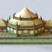 Ancient Architecture Jungle Temple