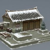 Old Asian Snow House