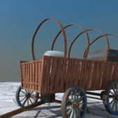 Ancient Old Wooden Carriage