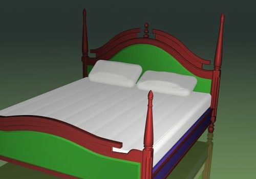 Furniture Ancient Style Four-poster Bed