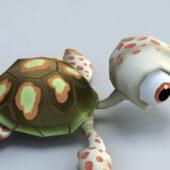 Baby Tortoise Cartoon Animated
