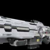 Animated Sci-fi Gun Design