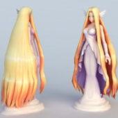 Anime Character Beautiful Goddess