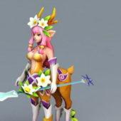 Anime Character Centaur Deer Girl