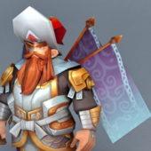 Anime Character Dwarf Gladiator