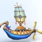 Anime Cartoon Flying Ship
