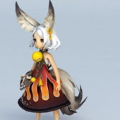 Anime Character Fox Girl Design