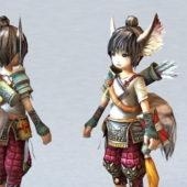 Anime Character Fox Spirit Girl
