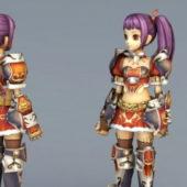 Anime Character Girl Warrior Elite