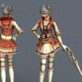 Anime Character Gunner Girl