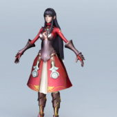 Healer Girl Gaming Character