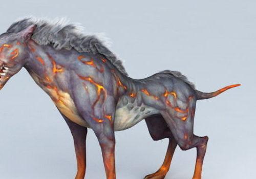 Cartoon Anime Hell Hound Dog