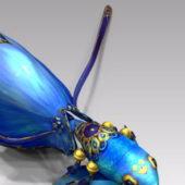 Kawaii Fish Animal Character