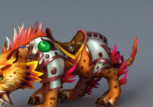 Anime Game Character Leopard Mount