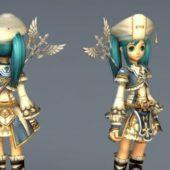 Anime Character Light Mage Girl