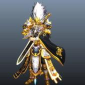 Swordsman Anime Game Character