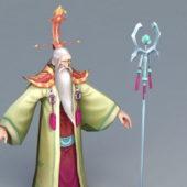 Anime Character Old Warlock