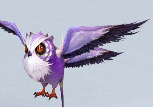 Cartoon Anime Owl