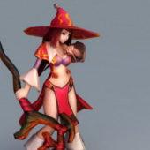 Anime Character Sorcerer Girl