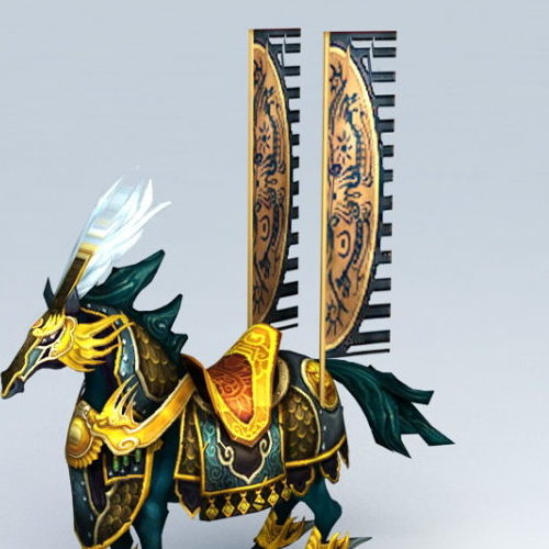 Anime War Horse Cartoon Animal