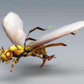 Animal Wasp Lowpoly