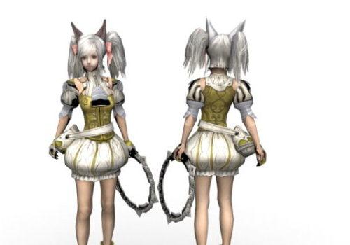 Anime Character Fighter Girl